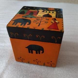 インドの木の小箱  ハンドメイド  カシミール製