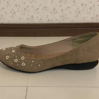 #17 靴 パンプス 花ビジュー - 佐賀市