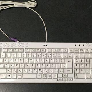 普通のキーボード(白、未使用)