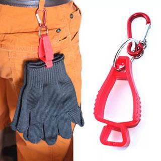 黒2個 グローブホルダー 片側カラビナタイプ グローブクリップ 手袋