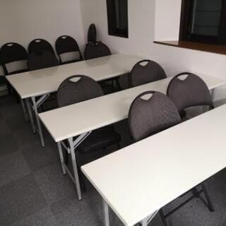 【ネット決済・配送可】会議用テーブル、オフィス用イス、プロジェク...