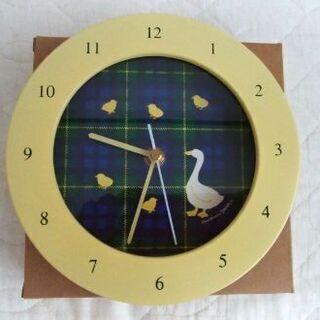 時計 置き時計 掛け時計 チェック アヒル ひよこ