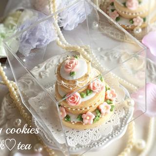【ご案内】ウェディングケーキ風アイシングクッキーオンラインレッスン