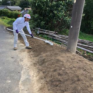 防草シート張りいたします。知多半島の便利屋・おそうじ屋 ハートフル − 愛知県