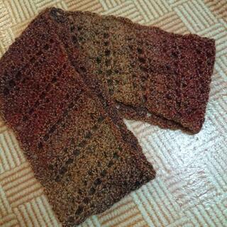 未使用 手編みのスヌードマフラー