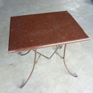 天然石天板 アイアン テーブル ガーデンテーブルなどに♪