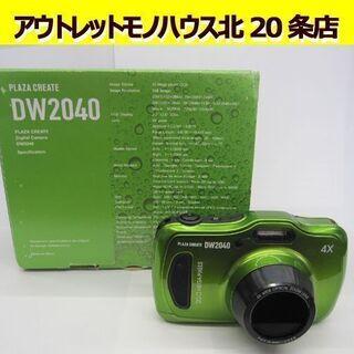 ☆カメラ DW2040 グリーン アクションカム 防水 付…