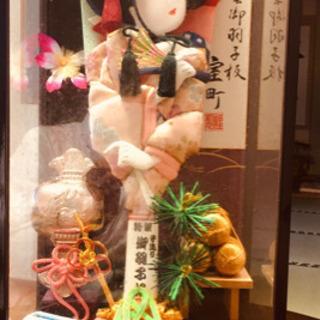 ❹オルゴール付きケース入り👍浅妻伝統美術品お正月置物未使用