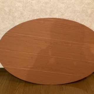 楕円折り畳み式テーブル - 家具
