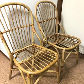 ウニコ unico ラタン椅子 2脚セット