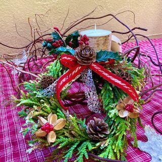 生木で作るクリスマスリース