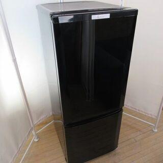 JAKN1649/冷蔵庫/2ドア/ブラック/右開き/三菱/MIT...