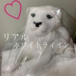 【新品】リアルぬいぐるみ ホワイトライオン