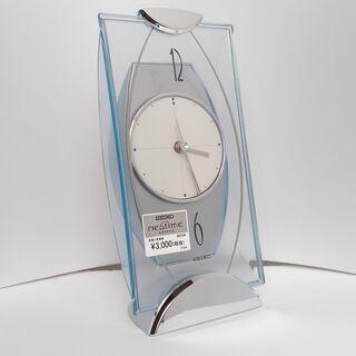 セイコー 置き時計 アナログ 銀色  BZ334S