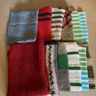 手編みひざ掛け 10枚