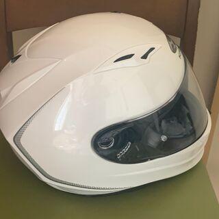 【美品】OGKカブト フルフェイスヘルメット KAMUI Sサイズ55-56 ホワイト − 大阪府