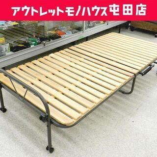 折りたたみベッド すのこベッド 木製ベッド シングル ベッド ☆...