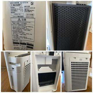 シャープ SHARP KC-E70-W [高濃度プラズマクラスター7000 加湿空気清浄機(加湿17畳まで 空清31畳まで) ホワイト](1014c) - 売ります・あげます