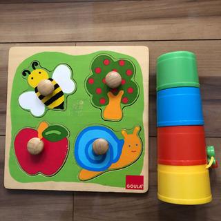大掃除で更に値下げ!木製パズル 積み重ねブロック 知育玩具 しか...