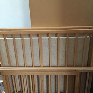 値下げ中☆希少☆キッズベッド・ジュニアベッドに組み替え出来るベビーベッド☆ Kintaro baby bed の画像