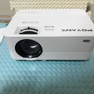POYANK データプロジェクター 4000lm 1080Pフル...