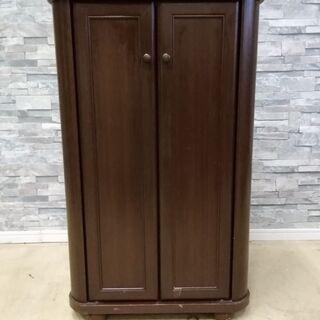 下駄箱 木製 扉付き シューズボックス 靴収納 仕切り高さ…