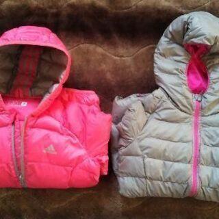 アディダスとユニクロのダウンジャケット 2着セット 女の子