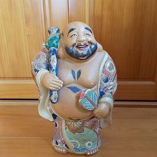 九谷焼 布袋尊像 七福神 縁起物 アンティーク