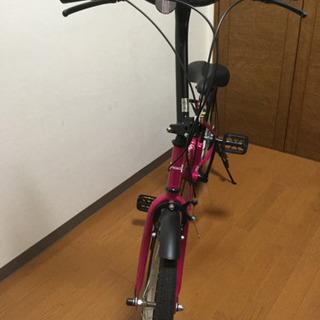 中古折りたたみ自転車。