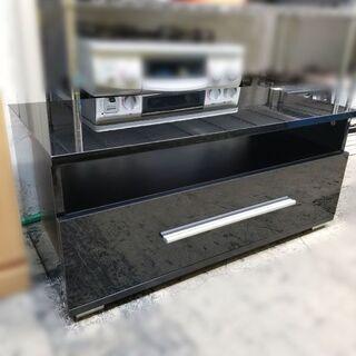 【¥1100-】テレビ台 黒 鏡面仕上げ AVラック AVボード...