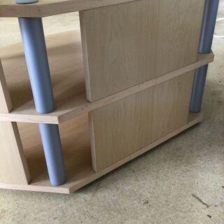 テレビ台 コーナーボード ラウンド型 木製 棚 ナチュラル 家具 収納 - 福井市
