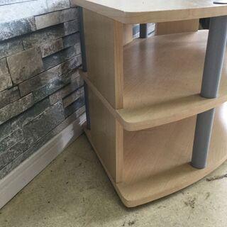 テレビ台 コーナーボード ラウンド型 木製 棚 ナチュラル 家具 収納 - 家具