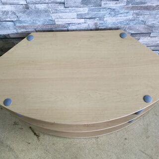 テレビ台 コーナーボード ラウンド型 木製 棚 ナチュラル 家具 収納 − 福井県