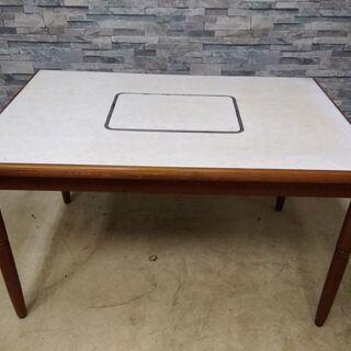 コイズミクックテーブル 晩餐 ガスコンロ内蔵テーブル LP…