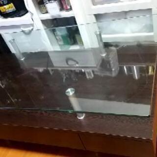 高級ローテーブル 硬化ガラス