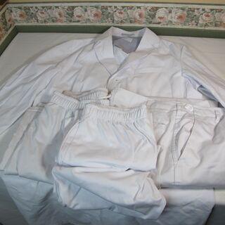 メンズ 男性用 ドクター 医師 診察衣 実験衣 研究用白衣 長袖(L)