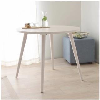 ダイニングテーブル 白 高さ65cm 北欧 やや低めのダイニング...