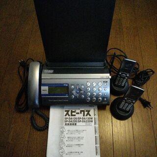 NEC 普通紙FAX SP-DA120W 子機2台付き
