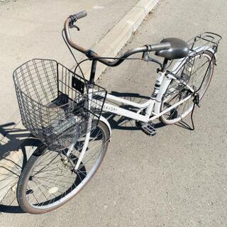 自転車◆ママチャリ◆ホワイト◆26インチ◆市内配送可能!!