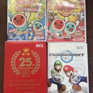 【人気ソフト4本セット】Wii 太鼓の達人 マリオ