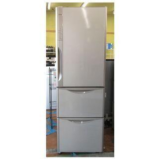 幅59㎝ 365L 2015年製 3ドア冷蔵庫 日立 自動製氷 ...