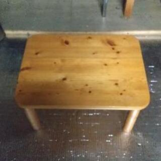 【中古品】木製ミニローテーブルの画像
