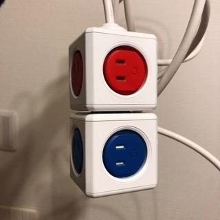 電源タコ足ケーブル USBポート付き セット