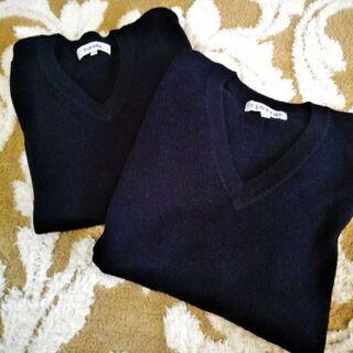 濃紺 スクールセーター 140サイズ  2枚組