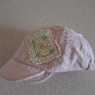 うすピンク 帽子  中古