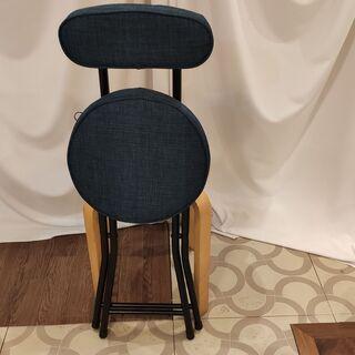 折りたたみ椅子 ネイビーB