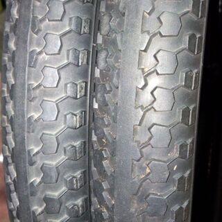 中古自転車タイヤ2本セット(チューブ付き)