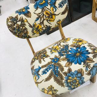 〈〉② 花柄 リビングチェア ダイニングチェア 食卓椅子