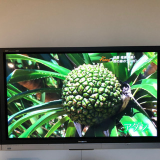値下げ。デカ!65型プラズマテレビとブルーレイプレーヤーのセット