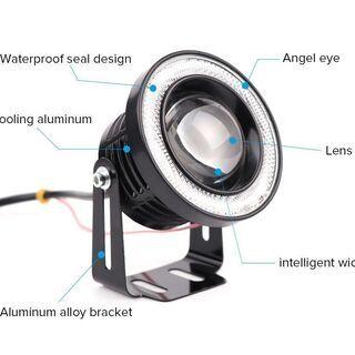 新品 汎用 LED フォグランプ エンジェルアイ